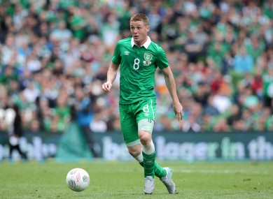 McCarthy featured as Ireland drew 1-1 with Scotland today.