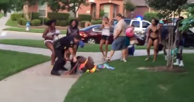 WATCH: Texas cop throws black girl in a bikini to the ground, threatens teens with gun