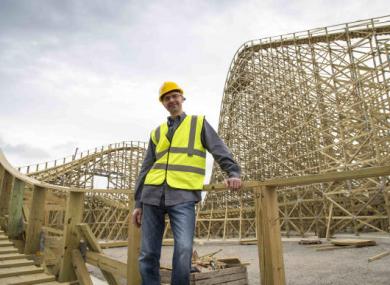 Korey Kiepert in the building stage on the Cú Chulainn rollercoaster.