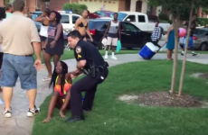 Texas cop who drew gun and wrestled bikini-clad teen girl at pool party resigns