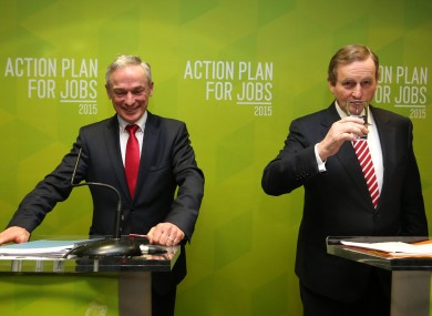 Jobs Minister Richard Bruton and Taoiseach Enda Kenny