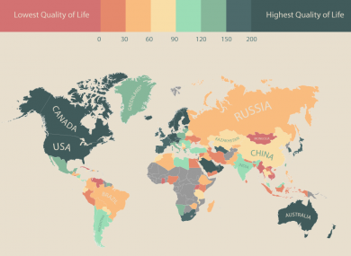 The quality of life all over the world in one neat map thejournal gumiabroncs Image collections