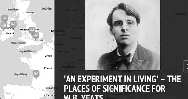 Interactive map tells the story of one of Ireland's most famous poets