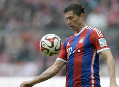 Lewandowski is reportedly one of Man United's top targets.