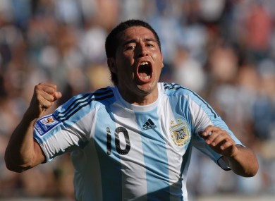 Riquelme played 51 times for Argentina.