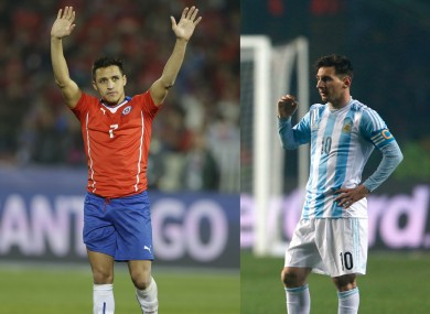 Star men: Sanchez and Messi.