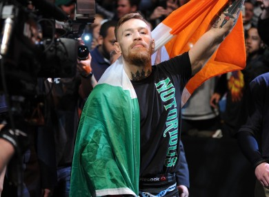 UFC interim featherweight title challenger Conor McGregor.