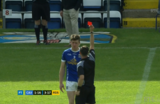There was an unusual red card in Cavan v Roscommon