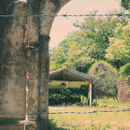 The ruins of San Luis church in Aguacayo canton,Guazapa, central El Salvador. The church was bombed during the civil war.