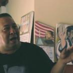 Community activist Manuel Ortega, in his office, in Suchitoto, in central El Salvador. Ortega leads a community organisation called the CRC.