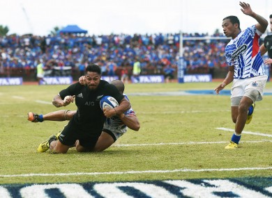 George Moala scored a try on his test debut.