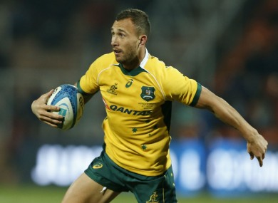 Australia's Quade Cooper has explained his reaction.