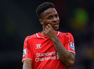 Liverpool's Raheem Sterling had initially been included in Brendan Rodgers' squad for the warm-up fixtures.
