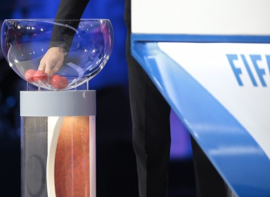 The draw took place in St Petersburg this afternoon.