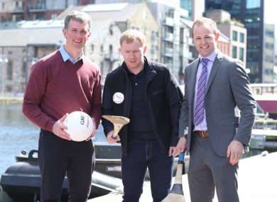 Tadhg Hayes pictured with Paul Scholes and Tommy Walsh.
