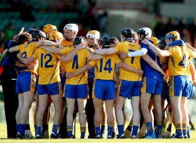The Clare team huddle before last year's Bord Gáis Energy Munster U21 hurling quarter-final against Limerick.