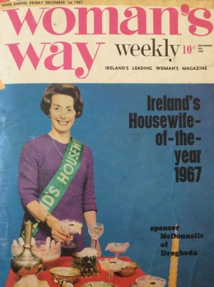 Kay Johnson from Limerick, the winner of the inaugural 'Housewife of the Year' competition, on the front cover of Woman's Way in 1967.