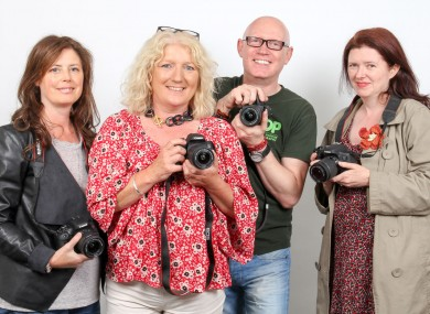 Anna, Linda and Dervilla with Dave McKane, the head of the Institute of Photography in Dublin