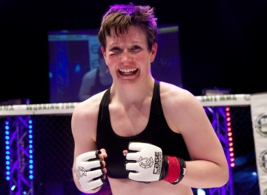 Aisling Daly celebrates after her last bout in Dublin, which was against Karl Benitez in December 2013.