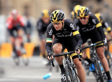Team Sky's Nicolas Roche came third yesterday (file pic).