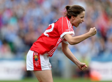Cork's Eimear Scally celebrates scoring their second goal in last year's All-Ireland.