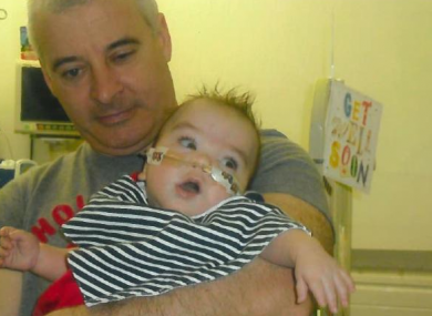 As part of their appeal, police released this photo of McGuigan with his grandson Ollie.