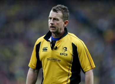 Well-known rugby referee Nigel Owens.