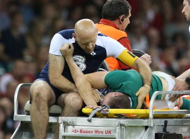 O'Donnell suffered the injury after being tackled by Alex Cuthbert.