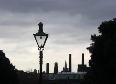 The west Dublin skyline seen from the Phoenix Park.