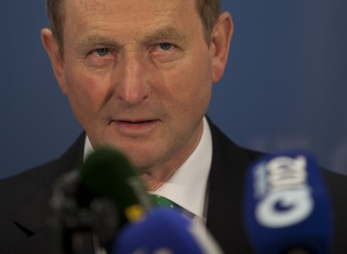 Enda Kenny at his party's think-in.
