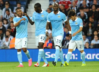 Sterling (left) and Silva (right) should return for City.