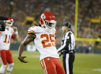 Jamaal Charles Ripped Off The Lambeau Leap And Aaron Rodgers TD Celebration Last Night