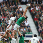 Devin Toner needed all of his 6ft 10 inches to claim this lineout.<span class=