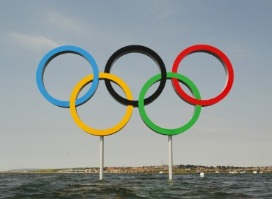 A set of Olympic Rings during the 2012 London Olympics.