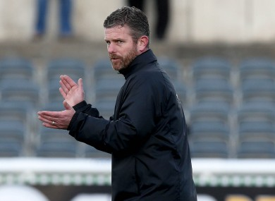 Kinsella was appointed caretaker boss last week.