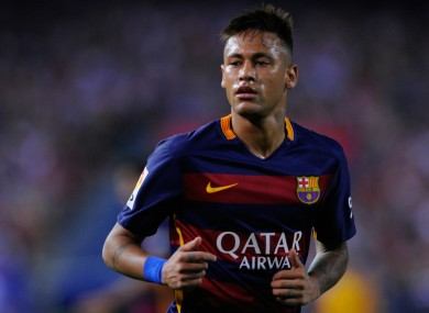 Barcelona forward Neymar was linked with Man United during the summer.