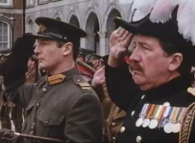 Handing over Dublin Castle in 'Michael Collins'.