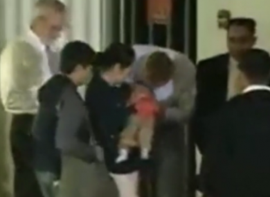 Cushworth and Casanellas are reunited with their son.