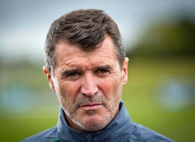 Keane at the National Sports Campus today.