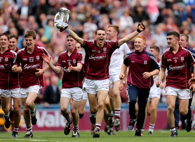 Celebration time for the Galway hurlers.