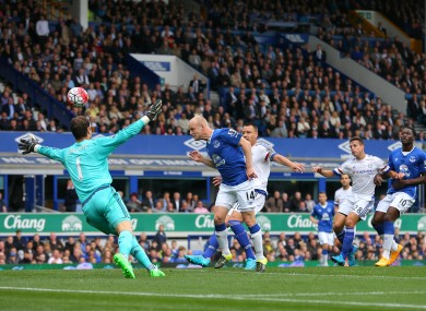 Naismith headed the Toffees into a deserved lead.