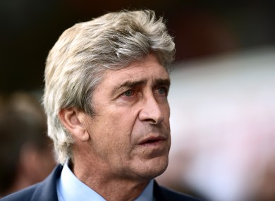 Manchester City manager Manuel Pellegrini refused to blame officials for his side's loss to Spurs.