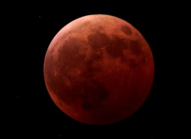 File Photo: Lunar eclipse January 2001.