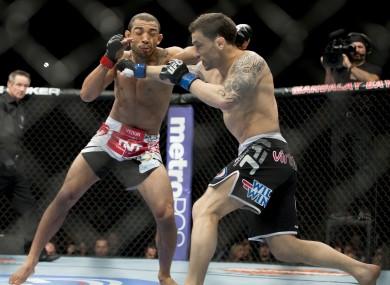 Edgar took on Aldo at UFC 156.