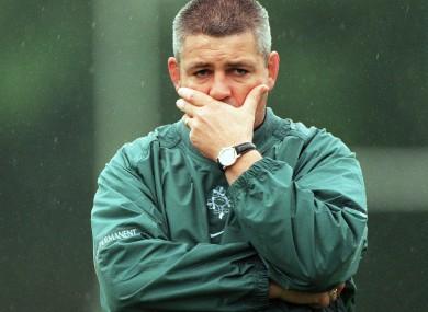 Gatland in 1999 in the green.