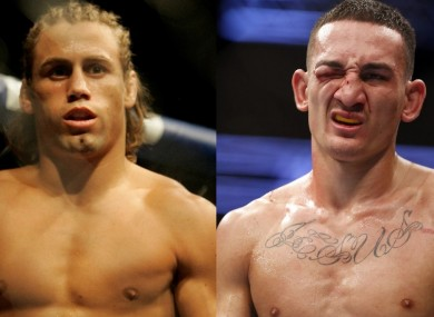 Urijah Faber and Max Holloway.