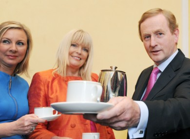 Enda Kenny with two of the few female Fine Gael parliamentary party members, senator Imelda Henry and TD Mary Mitchell-O'Connor.