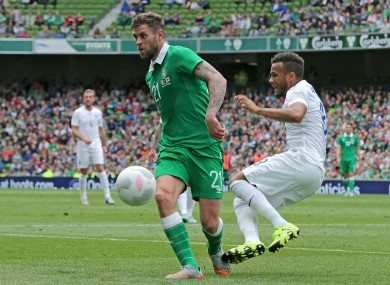 Daryl Murphy gets the nod ahead of Shane Long and Robbie Keane.