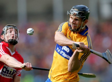 Domhnall O'Donovan prepares to swing over THAT equaliser in 2013.