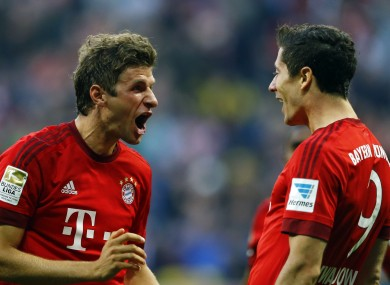 Thomas Muller and Robert Lewandowksi are two of five Bayern Munich players nominated.